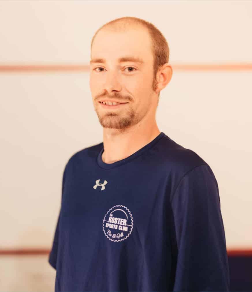 Rosters Sports Club Bar & Grill - Vernon BC - Racquetball Squash Courts - Club Pro - Pete Trafford 1