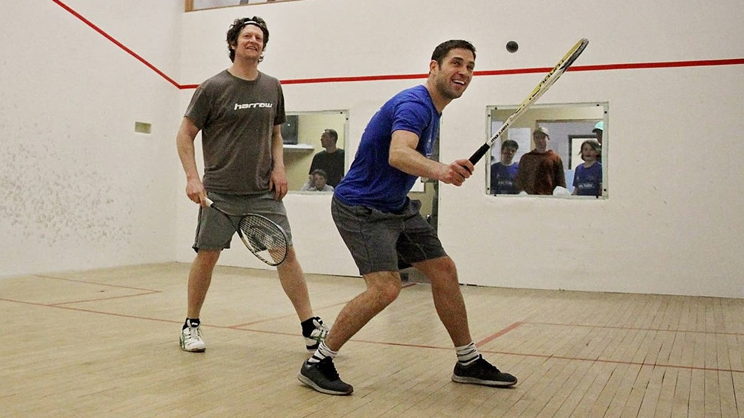 Rosters Sports Club Bar & Grill - Vernon BC - Racquetball Squash Courts - Interactive Banner - Squash